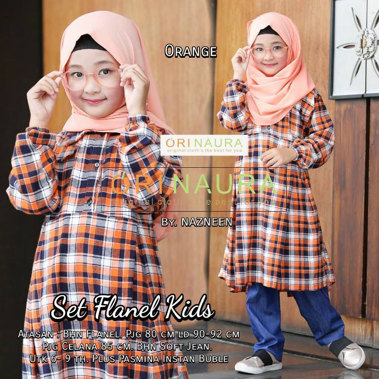 Set Flanel Kids by Orinaura o