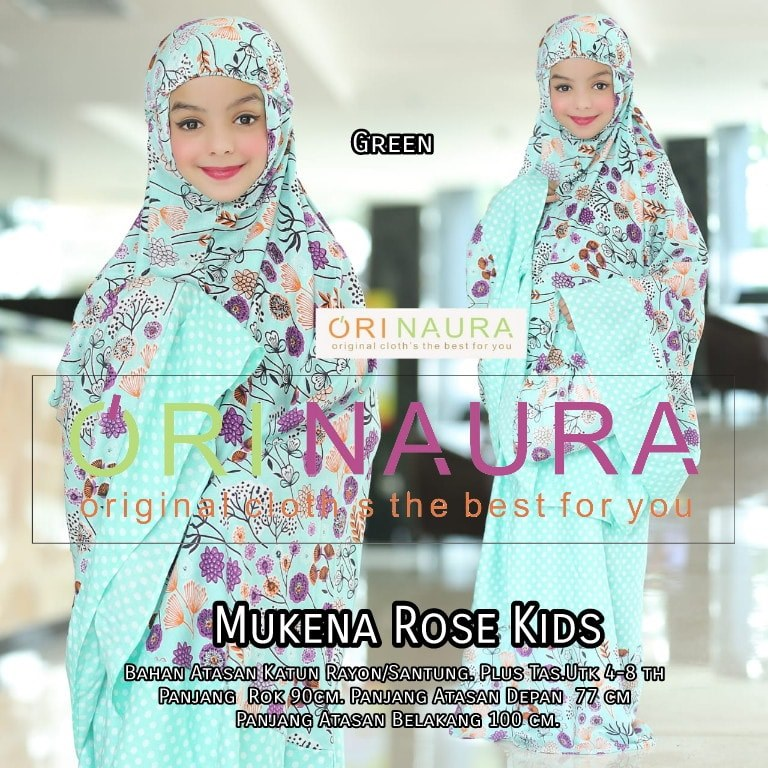 Mukena Rose Kids by Orinaura g
