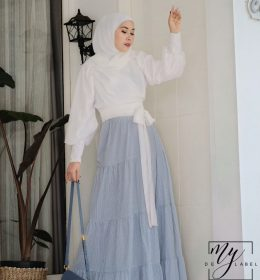 Olla outer Basic in white BY MY DE LABEL
